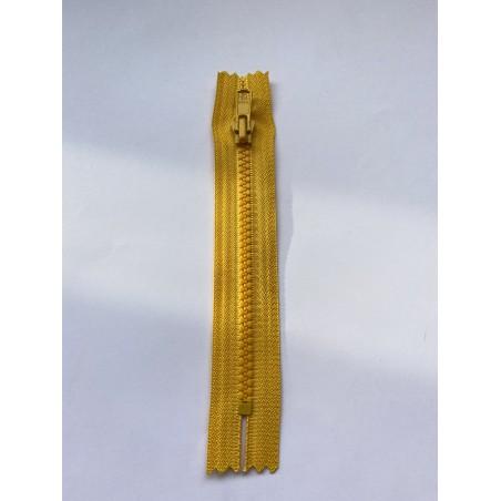 Fermeture à glissière injectée standard maille 4 jaune 15 cm