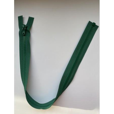 Fermeture à glissière plastique séparable maille 6 verte 50 cm