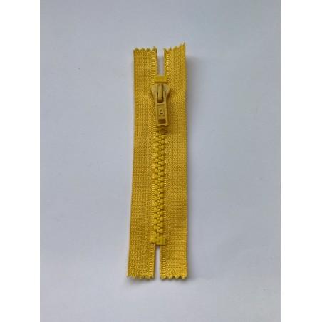 Fermeture à glissière injectée standard maille 6 jaune 11 cm