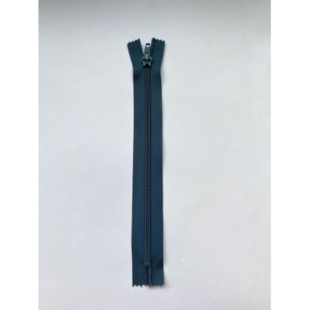 Fermeture à glissière nylon standard maille 6 bleu 22 cm