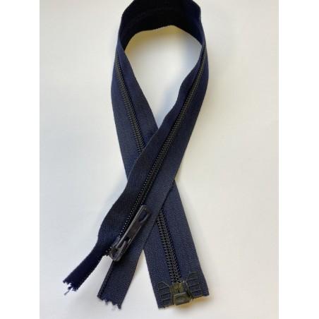 Fermeture à glissière nylon séparable maille 6 marine 46 cm