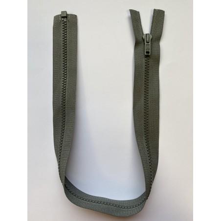 Fermeture à glissière grise 52 cm