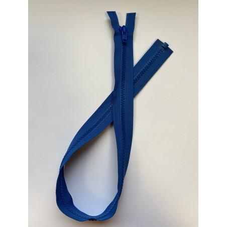 Fermeture à glissière plastique séparable maille 6 bleue 60 cm