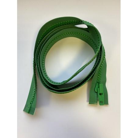 Fermeture à glissière verte plastique séparable maille 9 150 cm