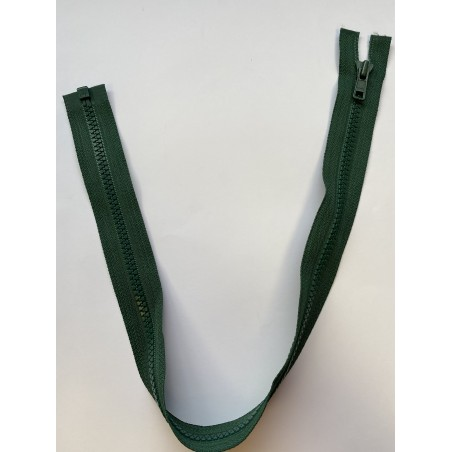 Fermeture à glissière injectée séparable maille 6 verte 53 cm