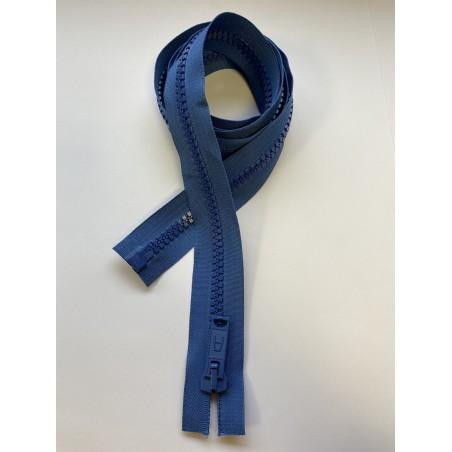 Fermeture à glissière injectée séparable maille 9 bleue 155 cm