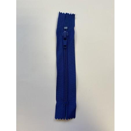 Fermeture à glissière bleue 13 cm