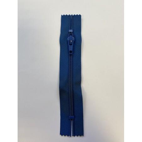 Fermeture à glissière nylon standard maille 6 bleue 13 cm