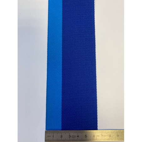 Sangle polyester bicolore bleue 65 mm