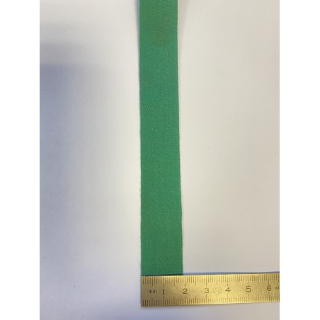 Sangle coton verte 20 mm