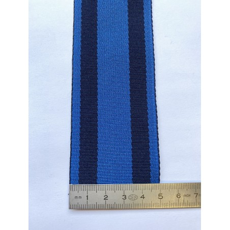 Sangle polyester bleue avec 2 rayures marines 50 mm