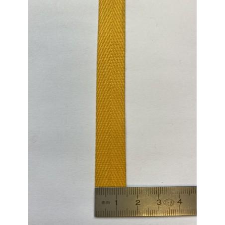 Sangle polyester jaune 15 mm