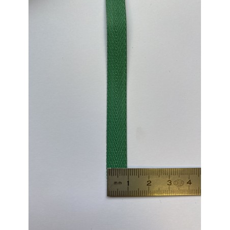 Sangle coton verte 10 mm