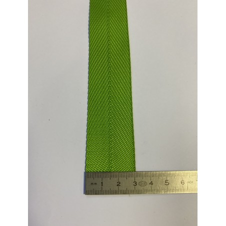 Sangle polyester verte 31 mm