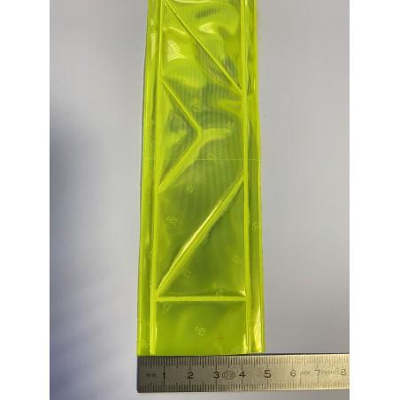 Bande rétroréfléchissante microprismes jaune 50 mm
