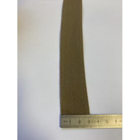 Élastique bretelle beige 32 mm