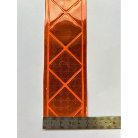 Bande rétroréfléchissante microprismes orange 50 mm
