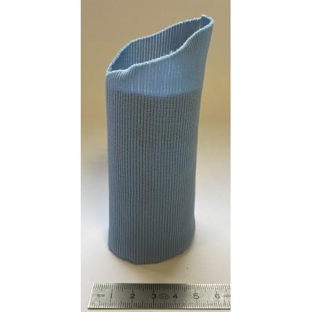Bord côte tubulaire polyester poignet bleu ciel 50 mm