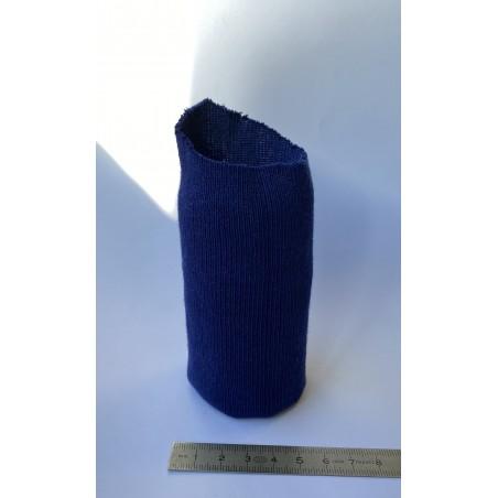 Bord côte coton tubulaire poignet marine 50 mm