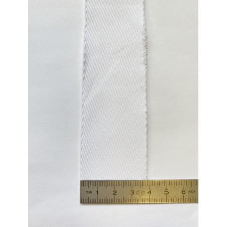 Biais coton/polyester blanc 40 mm