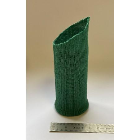 Bord côte coton tubulaire poignet vert 40 mm