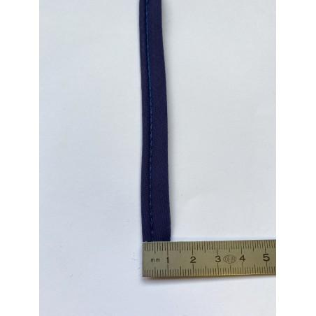 Passe-poil mèche coton 3 mm marine 12 mm