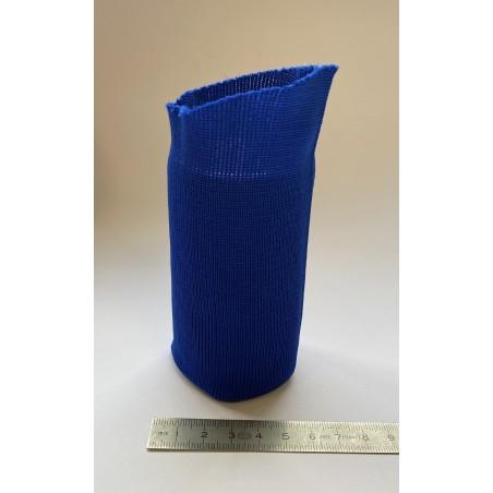 Bord côte polyester tubulaire poignet bleu roy 50 mm