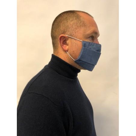 masque en tissu bleu 50 lavages