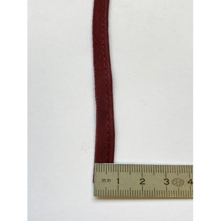 Passe-poil mèche coton 2 mm bordeaux 10 mm