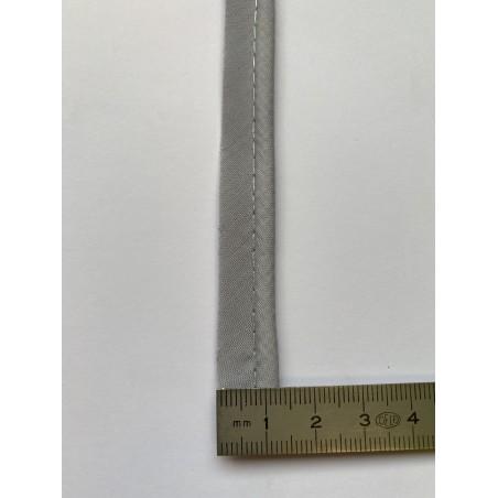 Passe-poil mèche coton 3 mm gris 12 mm