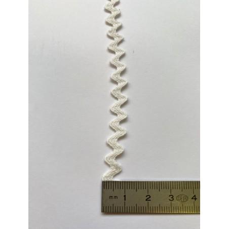Serpentine croquet polyester blanc 10 mm