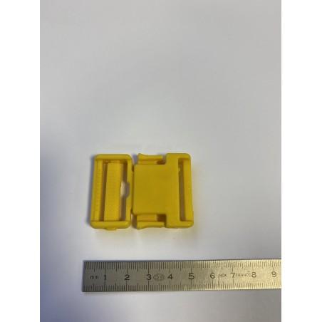 Boucle plastique trident jaune