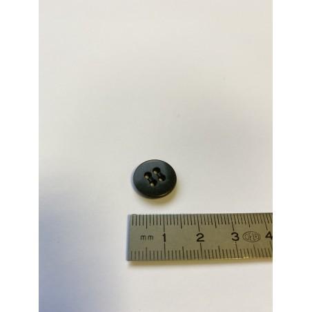 Bouton lentille gris foncé 4 trous 14 mm