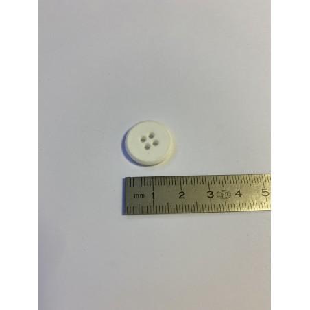 Bouton blanc 4 trous 18 mm