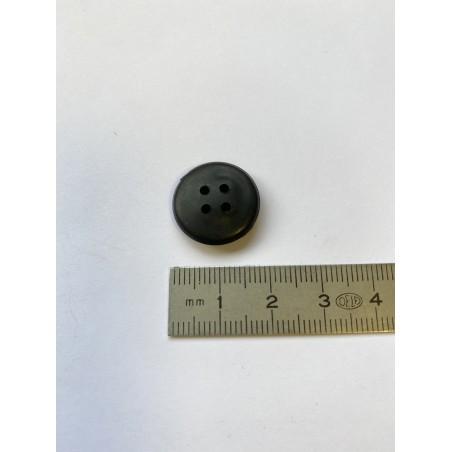 Bouton noir 4 trous 18 mm