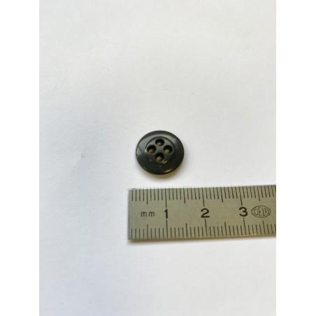 Bouton lentille gris foncé 14 mm