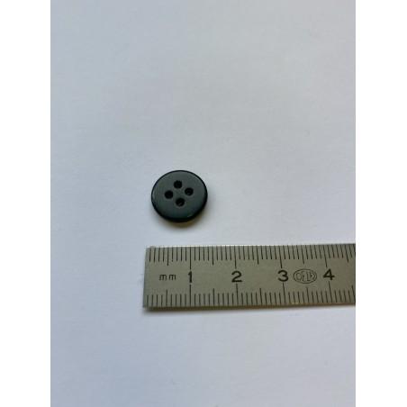 Bouton plat vert foncé 4 trous 14 mm