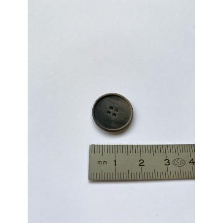 Bouton marron 4 trous 18 mm