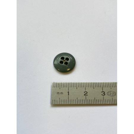 Bouton lentille gris 4 trous 14 mm