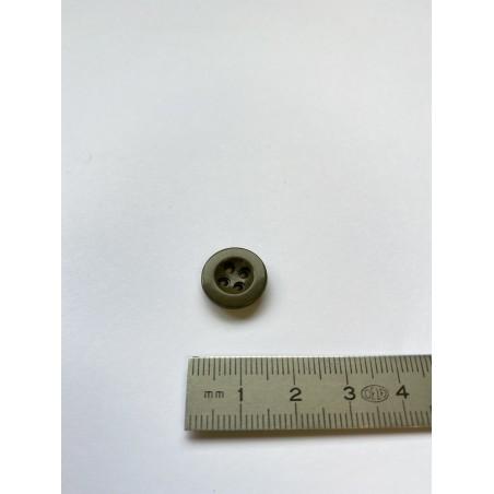 Bouton cuvette kaki 4 trous 14 mm