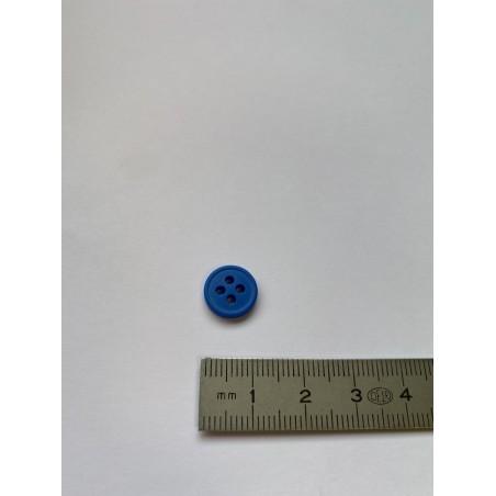 Bouton bleu 4 trous 11 mm
