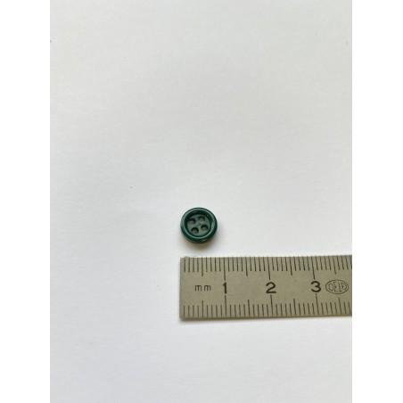 Bouton vert foncé 4 trous 9 mm