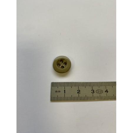 Bouton cuvette beige 4 trous 14 mm