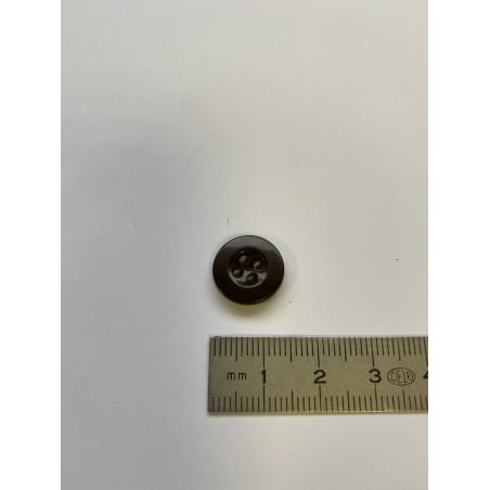 Bouton cuvette marron 4 trous 14 mm