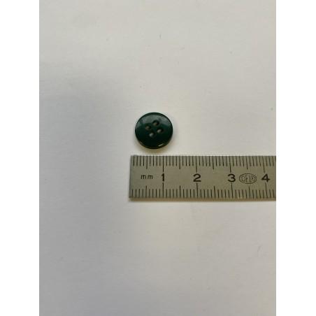 Bouton vert foncé 4 trous 12 mm