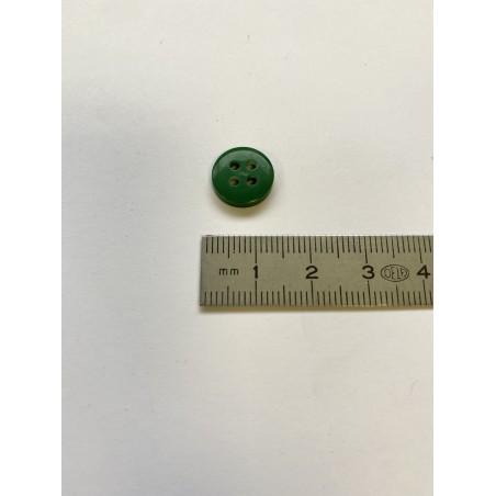 Bouton vert 4 trous 12 mm
