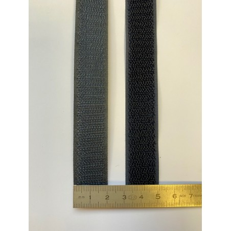 Bande auto-agrippante noire 20 mm