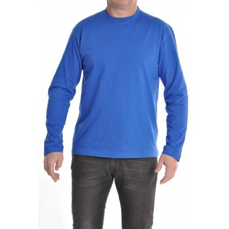 tee shirt bleu manches longues