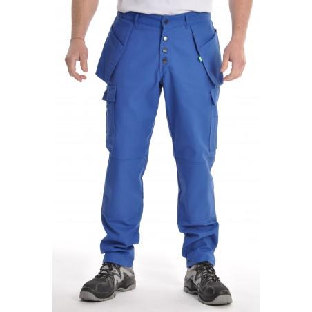 Pantalon multipoches bleu bugatti