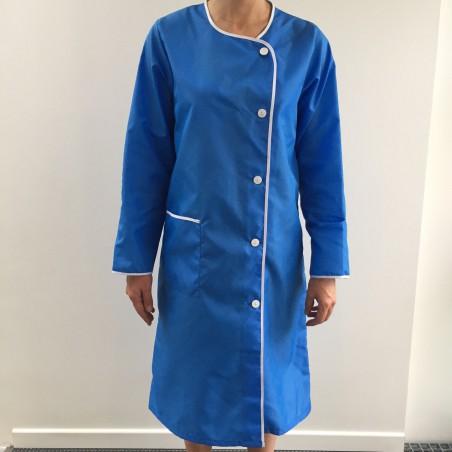 Blouse Hotesse en nylon bleu nattier